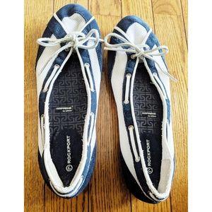 Rockport Etty Laced Boat Shoe Navy & White, 8.5